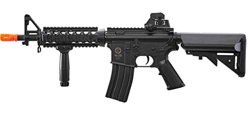 - Umarex Black Tactical Airsoft M4 CQB AEG Rifle Set w/Battery, Charger, Foregrip