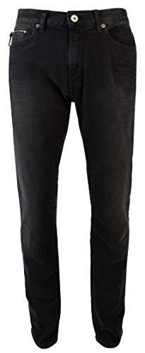 Armani Jeans Zip Fly Jeans - A|X Armani Exchange Men's Tapered Stretch Jeans-BLK-34Wx32L Black