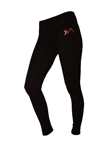 Womens Organic Cotton Tights Leggings (Womens Organic Yoga Leggings, Black, Small)