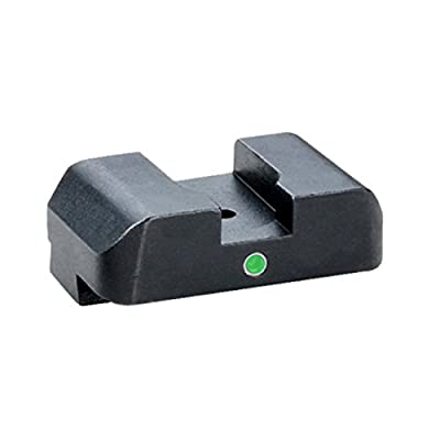 "Ultimate Arms Gear GL-101R Glock 17-41 i-Dot Tritium Rear Sight Tritium No Outline Single Dot i-Dot REAR Sight .315"" H .180"" Notch by Ultimate Arms Gear"