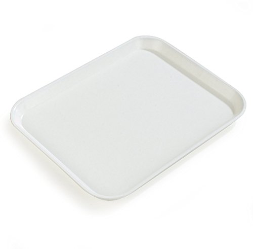- Carlisle 1814FG001 Fiberglass Glasteel Solid Rectangular Tray, 18