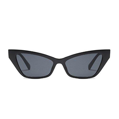 marco Gafas Grey Gafas vintage sol Inlefen pequeño de de Dlack de de sol de retro elegantes estilo sol Gafas wzH0Aq