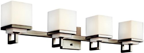 Kichler 45140NI Metro Park Bath 4-Light, Brushed - 4 Light Vanity Park