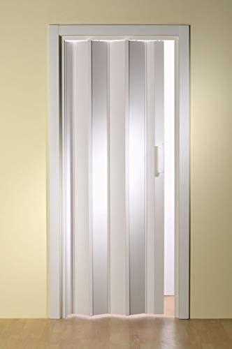 Plástico de puerta plegable luci. Color Blanco B 88,5 x h 202 cm sin ventana: Amazon.es: Bricolaje y herramientas