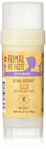 Primal Pit Paste All Natural Lavender Deodorant – Aluminum Free, Paraben Free, Non-GMO, Phthalate Free for Women and Men – BPA Free 2 Oz Convenience Stick – Scented with Natural Essential Oils