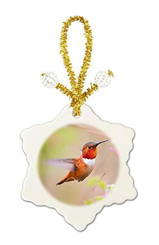 Caikem Hummingbird Custom Exquisite Snowflake Ceramic Piece Festival Porcelain Decoration by Caikem