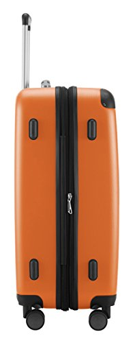 Hauptstadtkoffer Koffer Spree, 65 cm, 82L, Grün +Badehandtuch Orange