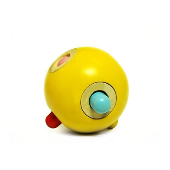 Shumee Wooden Rolling Peg Ball (Toys for 6 Months+ Babies) - Explore Shapes & Discover Movement