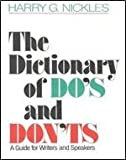 Dictionary of Does Donts for Writers, Outlet Book Company Staff and Random House Value Publishing Staff, 0517413620