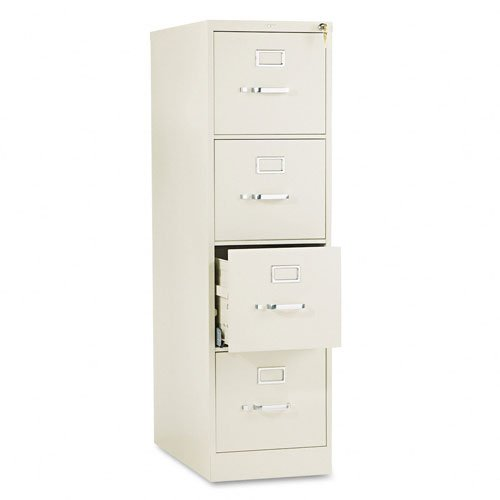 Hon 4 Drawer Filing Cabinet   510 Series Full Suspension Letter File Cabinet  52 By 25 Inch  Putty  514Pl