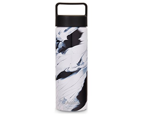 Cheeky go 20oz Insulated Stainless Steel Water Bottle - Blue/White Paint Stroke