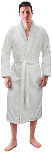 hawl Collor 100% Cotton Bathrobe Made in Turkey (Small/Medium, White) ()