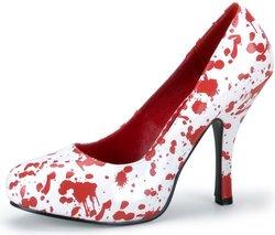 Splatter Shoes (Pleaser Shoes - Red Blood Splatter Shoes Adult White, White,)