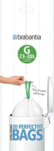 Brabantia Bin Liner G, 30 Litre - 100 Bags by Bargains - Hut G