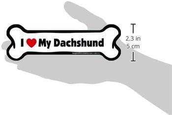 2-Inch by 7-Inch Imagine This Bone Car Magnet I Love My Dachshund