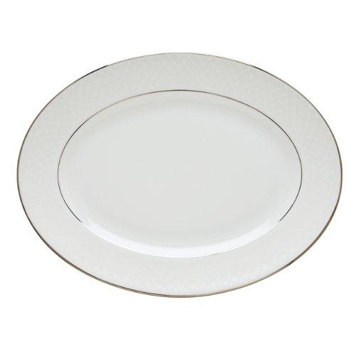 Platter Lace Oval Serving - Lenox Venetian Lace Oval Platter, 16-Inch