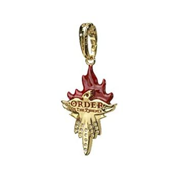 Charm Lumos Fawkes Fumseck le phénix - Noble Collection Harry Potter