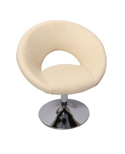 Homy - Sillón Relax PALERMO II, regulable en altura, color crema