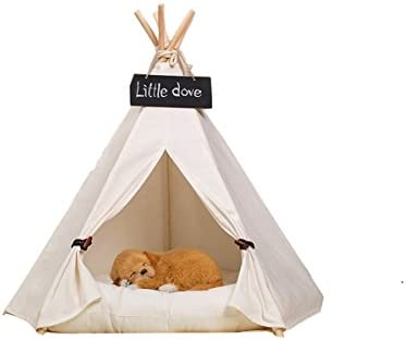 Free Love pure white Pet Kennels Pet Play House Dog Play Tent Cat Dog Bed by FREE LOVE