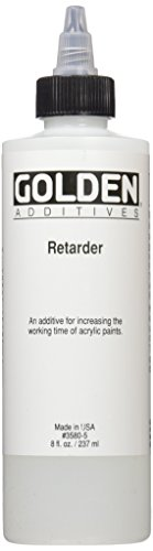 Golden 0003580-5 8 oz Artist Colors Acrylic Retarder Additive, Medium Acrylic Paint Mediums
