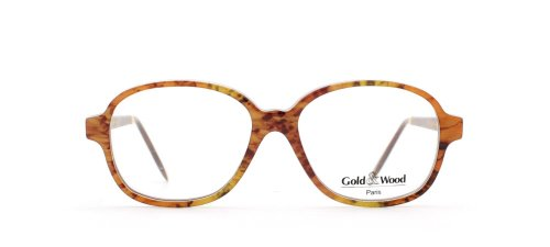GOLD & WOOD - Monture de lunettes - Femme Orange Orange Yellow