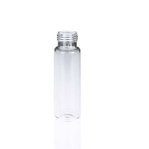 Capacity Bottom - ALWSCI Clear Glass Round Bottom Screw Thread Headspace Vial, 18mm Screw Top, 20mL Capacity, Pack of 100