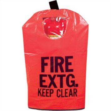 (10 Pack) FIRE EXTINGUISHER COVERS (With Window) for 10 to 20lb. Extinguishers, Medium 25'' x 16 1/2''