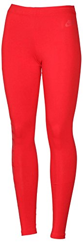 Nike Women's Leg A See Just Do It Casual Leggings-Red-Medium