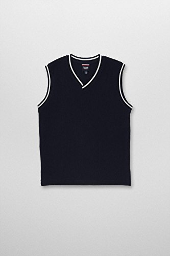 French Toast French Toast School Uniforms Sweater Vest With White Stripe Boys Navy 8 Boys Navy 8