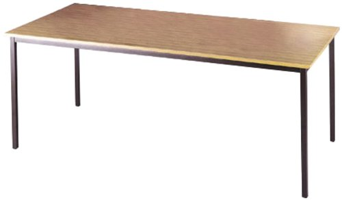 Tables - Graphite Frame Rectangular Flexi Table (FLXG14B) H725xW1400xD800 - Beech Dams