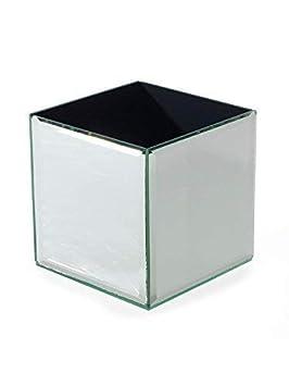 INERRA Vidrio Espejo Cube-Florero para Boda Mesa Centros de Mesa, Velas y de Mesa Arreglos - 14cm x 14cm x 14cm: Amazon.es: Hogar