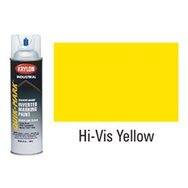Quik-MarkTM APWA Solvent-Based Yellow Inverted Marking Paint [Set of 12] ()