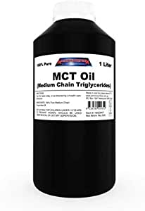 Amino Nutrition 100% Pure MCT Oil 1L Medium Chain Triglycerides from Coconut