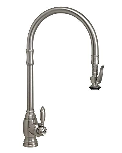- Waterstone 5500-GB Traditional Extended Reach PLP Pull Down Faucet Gloss Black
