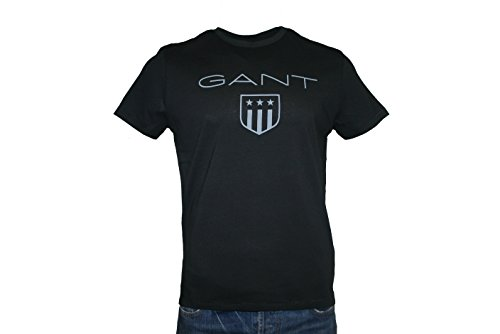GANT - Herren T-Shirt - Tonal Gant Shield - black - Gr. XL
