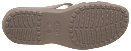 Crocs Meleen Twist, Sandales Bout Ouvert Femme, Pearl White/Oyster Mushroom/Gold