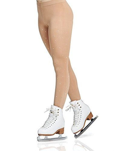 Mondor Model 911 Rhinestone Footed Skating Tights Size Child 4-6
