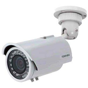 Toshiba IK-7200A Analog Bullet Camera, 480 TV Lines, 3.7-10mm Lens, 12V DC, IP66 Built in IR LEDs