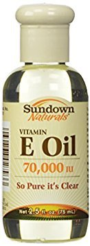 Sundown Naturals Vitamin E Oil, 70,000 IU, 2.5 fl oz - Buy Packs and SAVE (Pack of 3)