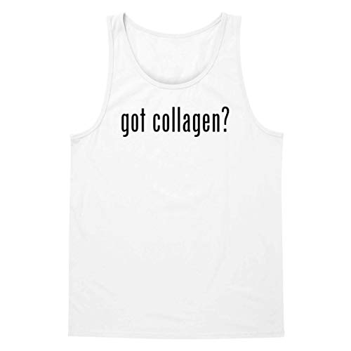 (The Town Butler got Collagen? - A Soft & Comfortable Men's Tank Top, White, Small)