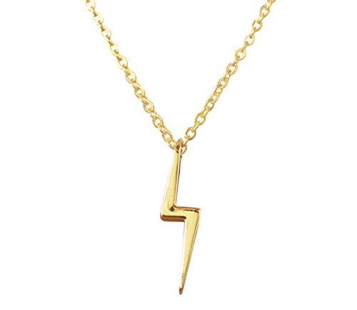 Altitude Boutique Simple Lightning Necklace Lightning Bolt Necklace (Gold)