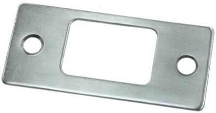 Deadbolt Strike Plate 2.75 in x 1.25 in Set of 10 Brushed Chrome
