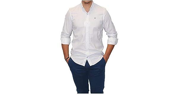 MAKARTHY - Camisa Topos Hombre Color: 361 Celeste Talla: Size S: Amazon.es: Ropa y accesorios
