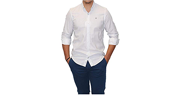 MAKARTHY - Camisa Topos Hombre Color: 361 Celeste Talla: Size ...