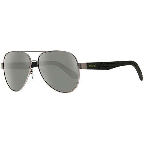 JUST CAVALLI Sunglasses JC650S 08N Shiny Gumetal / Green 58MM