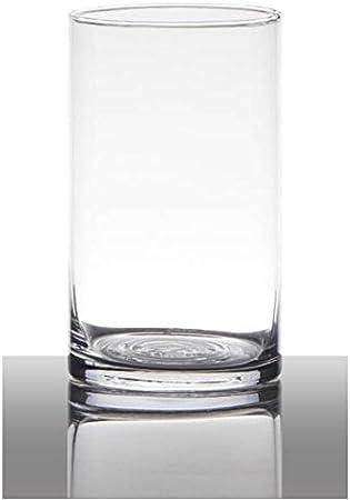 40cm D Dekoglas Vase ZYLINDER H 9cm transparent rund Glas Hakbijl