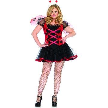 Plus Size Ladybug Costumes (Lovely Ladybug Plus Size Adult Costume - Plus Size 1X/2X)