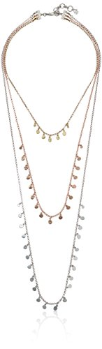 Lucky Brand Metal Triple Layer Necklace, 18