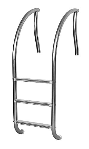 (Inter-Fab DR-L3065S R-L3065S Three Stainless Steel Sure-Step Treads Designer Pool Ladder)