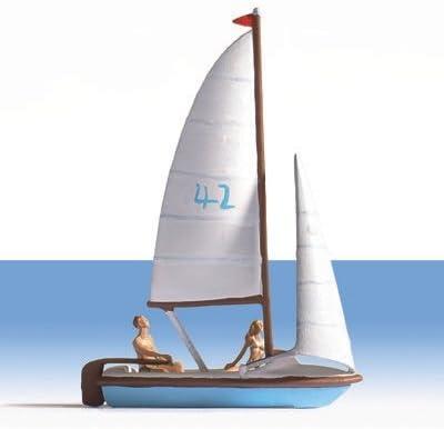NOCH H0 16824 Segelboot mit zwei Figuren BOX22 Boots Set OVP